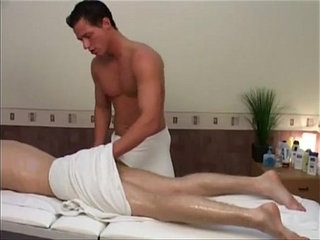 Blonde stud gets massage before fucking