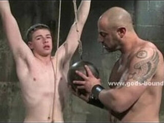 Teen gets collared hit with a riding crop and brutally used by his Master
