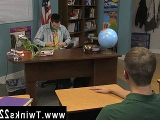 Gay video The twink sitting behind the teachers desk unleashes the
