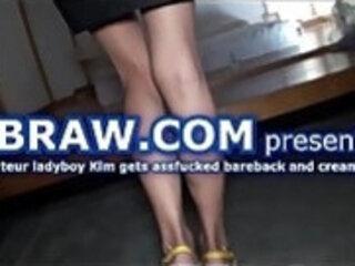 Ladyboy Kim Fucked Bareback