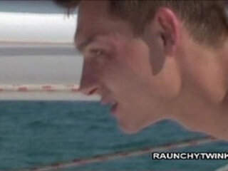 Two Naughty Twinks Fuck On A Sail Boat