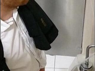 Spy cam pissing airport Medellín ginger huge large biggest
