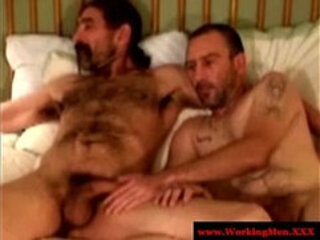 Straight hairy bears suck and jerk your cock