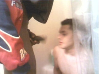 black boi cuming and pissing on white boy face