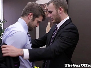 Muscular hunk seduced by his boss