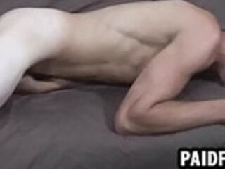 Straight hunk humps the couch for some money
