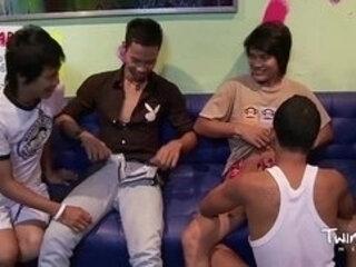 TWINK BOY MEDIA All Asian Twink Foursome