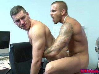 British muscled tattood poofs bum fuck