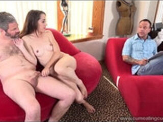 Cum Eating Cuckolds Nikki Next fucks a big dick with help of her hubby