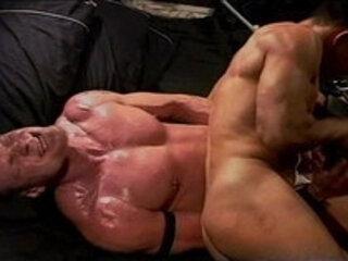 CBT Hot hung muscle stud ball bashing.