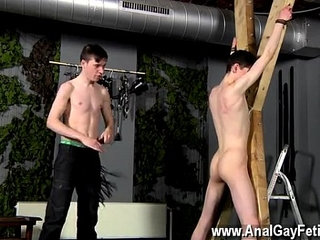 Hot gay scene Victim Aaron gets a whipping, then gets his hole