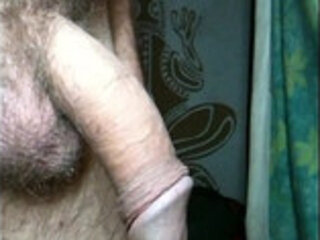 Wanking Cock, with cum shot.