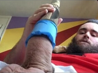 Wanking With A Home Made Fleshlight DIY