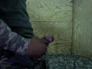 US Army Soldier Masturbating in Iraq