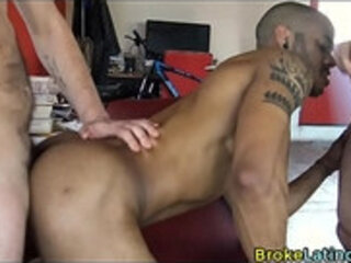 Muscle Tattoo Bottom Takes Straight Cocks